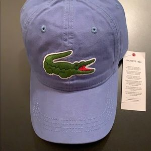 1909a9be3d2 NEW Lacoste Hat - 100% Cotton - Blue Color